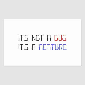 Det är inte ett kodifiera kryp som det är ett rektangulärt klistermärke