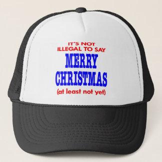 Det är inte olagligt till något att sägagod jul keps