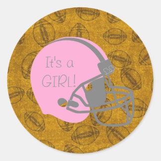 Det är klistermärkear för en baby shower för runt klistermärke