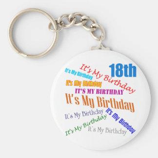 Det är min 18th födelsedaggåvor rund nyckelring