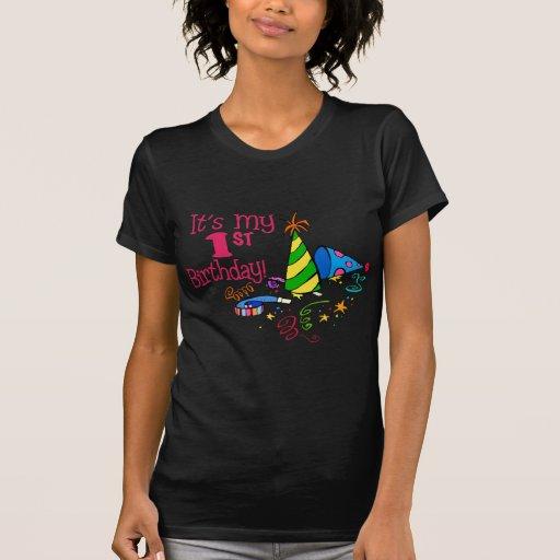 Det är min 1st födelsedag (partyhattar) tee shirts