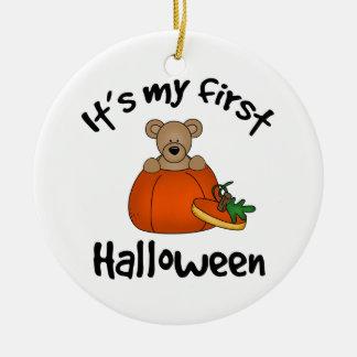 Det är min 1st Halloween Rund Julgransprydnad I Keramik