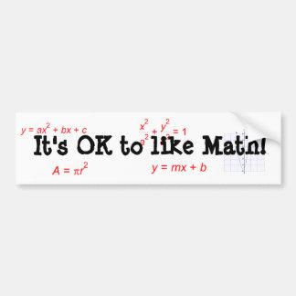 Det är reko att gilla Math! Bildekal
