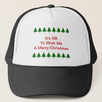 Det är reko att önska mig en god julhatt truckerkeps