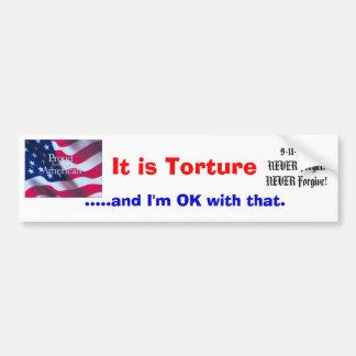 Det är tortyr bildekal