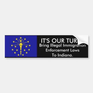 Det är vår vänd, den Indiana bildekalet Bildekal
