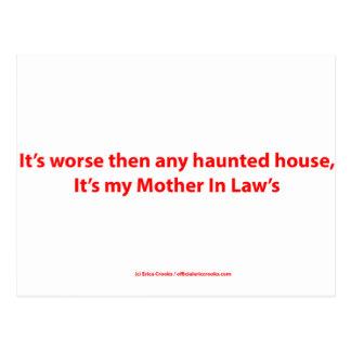 Det är värre därefter något spökat hus, det är vykort
