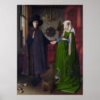 Det Arnolfini giftermål (vid Jan skåpbil Eyck) Poster