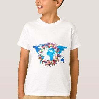 Det återhållsamma folket flagga cirklar tee shirts