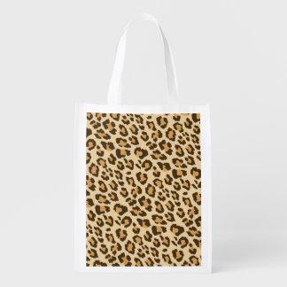 Det återvinningsbara Leopardtrycket hänger lös Återanvändbar Påse