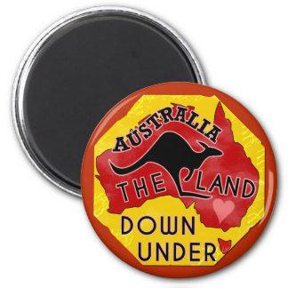 Det Australien kartalandet besegrar Under med den Magnet