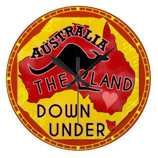 Det Australien kartalandet besegrar Under med den Stor Klocka