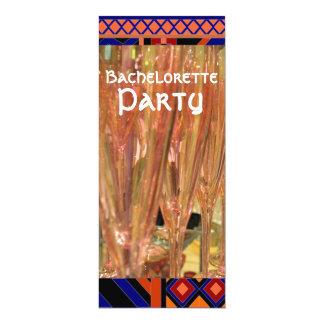 Det Bachelorette partyet dricker coctailinbjudan 10,2 X 23,5 Cm Inbjudningskort