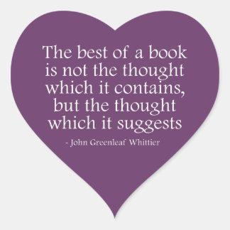 Det bäst av en bok hjärtformat klistermärke