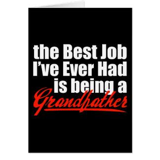 Det bäst jobbet är en farfar hälsningskort