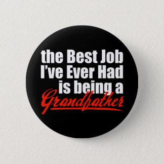 Det bäst jobbet är en farfar standard knapp rund 5.7 cm