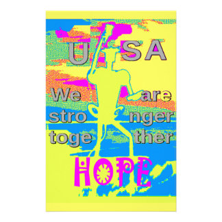 Det bäst USA hoppet starkare Hillary tillsammans Brevpapper