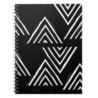 Det bästa berg - svart spiral anteckningsböcker