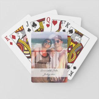 Det beställnings- fotoet som leker kort - spel kort