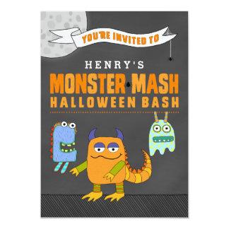 Det beställnings- monster mosar Halloween våldsamt 12,7 X 17,8 Cm Inbjudningskort