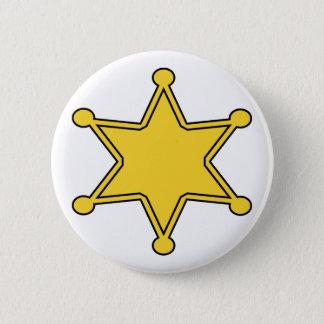 Det beställnings- sheriffemblem - planlägg ditt standard knapp rund 5.7 cm
