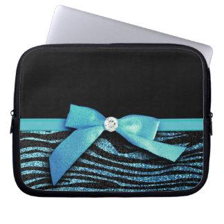 Det blåttsebran och bandet bugar grafiskt laptopfodral
