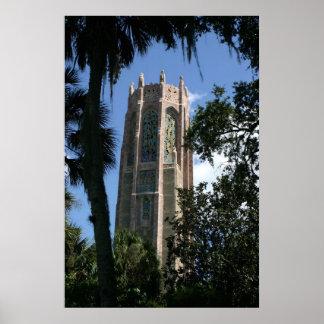 Det Bok torn arbeta i trädgården den centralFlorid Print