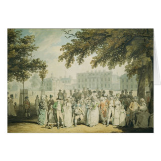 Det Buckingham huset, St James parkerar, 1790 Hälsningskort