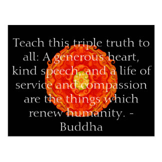 Det Buddha citationstecknet inspirerar Vykort