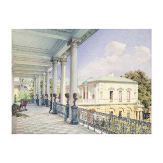 Det Cameron gallerit på Tsarskoye Selo, 1859 Canvastryck