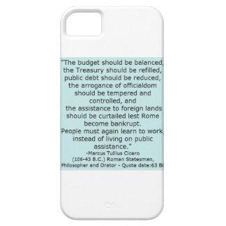 Det Cicero citationstecknet från 63 packar BC mer iPhone 5 Cases