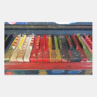 Det Colorfully målade pianot stämm klistermärken