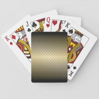 Det Diamondplate mönster med svart till guld Casinokort