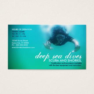 det djupa havet dyker (scubaen och snorkelen) visitkort