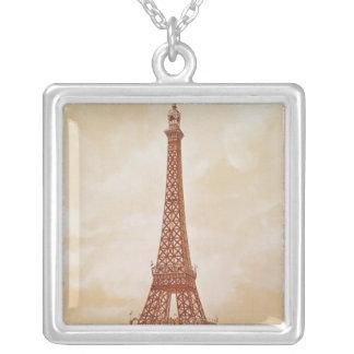 Det Eiffel torn, 1889 Silverpläterat Halsband