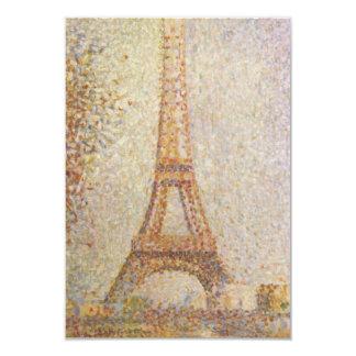 Det Eiffel torn av Georges Seurat 8,9 X 12,7 Cm Inbjudningskort