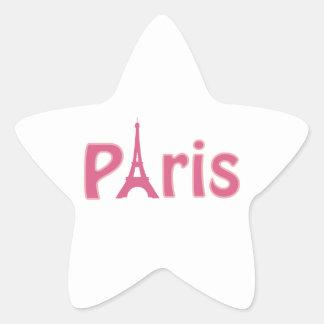 Det Eiffel torn avbildar Stjärnformat Klistermärke