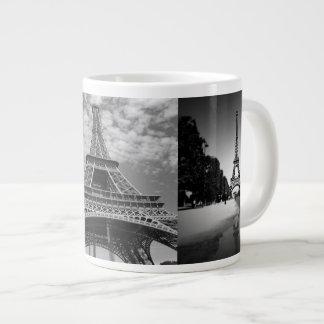 Det Eiffel torn beskådar i svartvit jumbomugg Jumbo Mugg