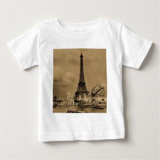 Det Eiffel torn från den Seine Paris utläggningen T-shirt