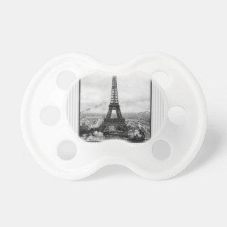 Det Eiffel torn i Paris görade randig vintage Napp