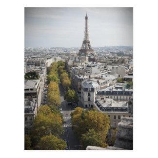 Det Eiffel torn i Paris (La turnerar Eiffel), Vykort