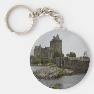 Det Eilean Donan slottet, Skottland knäppas Rund Nyckelring