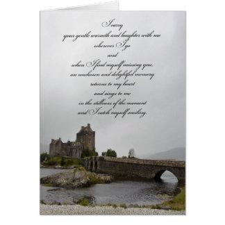 Det Eilean Donan slottet som är tänkande av dig, Hälsningskort