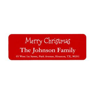 Det enkla beställnings- god julefternamn skrivar returadress etikett