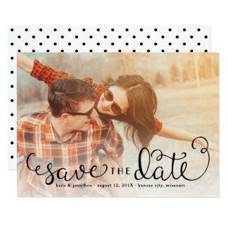 Det enkla fotoet sparade datumen, räcker märkt 12,7 x 17,8 cm inbjudningskort
