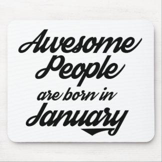 Det enorma folket är bördiga Januari Mus Mattor