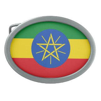 Det Etiopien flaggabältet spänner fast