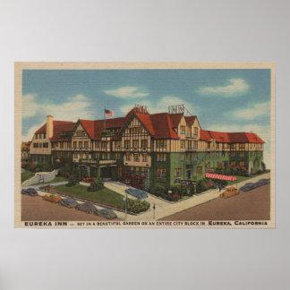 Det Eureka gästgivargårdhotellet beskådar i Eureka Poster
