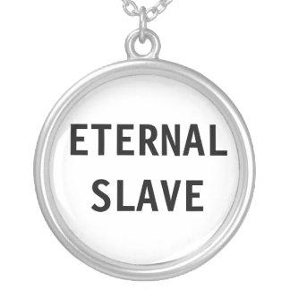 Det eviga halsbandet slavar halsband med rund hängsmycke