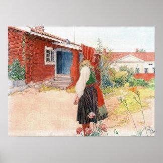 Det Falun hemmet av Carl Larsson Poster